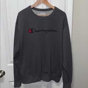 Champion sweatshirt charcoal gray Large